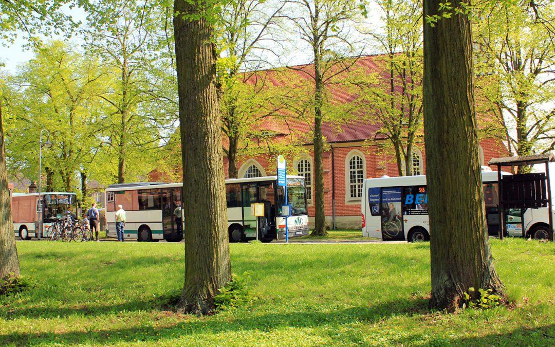 Vollsperrung Markt Sonnewalde – Fahrplanänderungen Linien 546, 592, 595 und 598