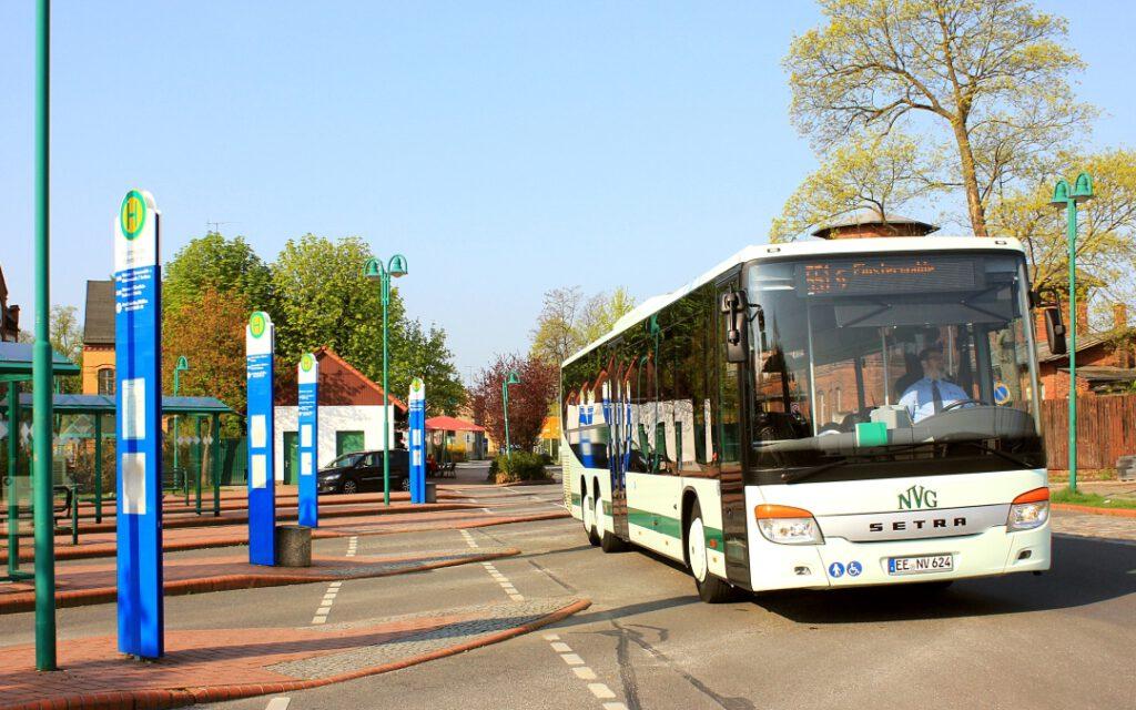 Finsterwalde: Busbahnhof auch im Baustellenmodus gut angebunden